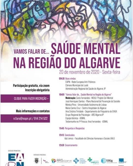 """20.11. 2020 Webinar """"Saúde Mental no Algarve"""""""